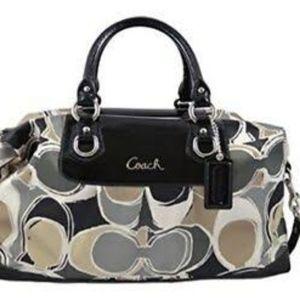 COACH Ashley Dotted Shoulder Bag
